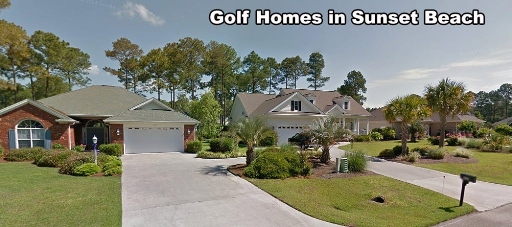 Homes on the Golf Course in Sunset Beach NC
