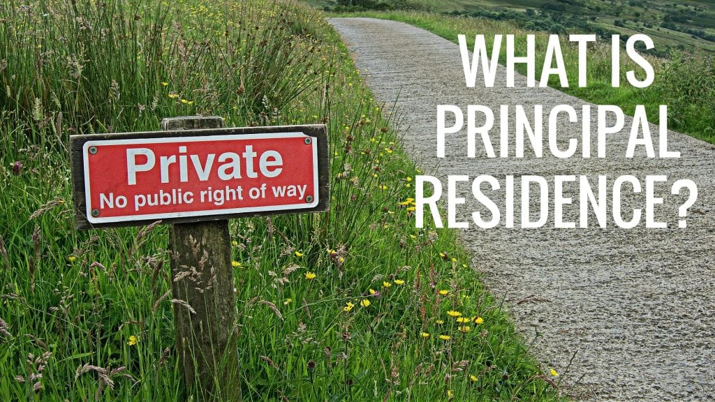 What Does Principle Residence Mean?