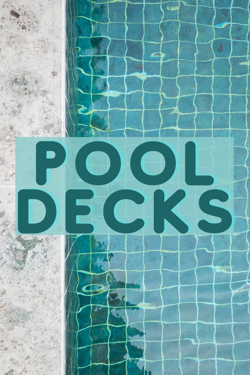 new home pool deck